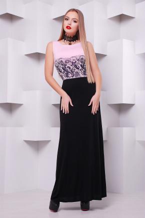 Кружево черное платье Бомонта б/р. Цвет: пудра