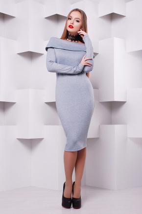 платье Грация д/р. Цвет: св. серый