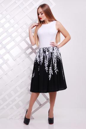 Белые листья платье Мирана б/р. Цвет: черный