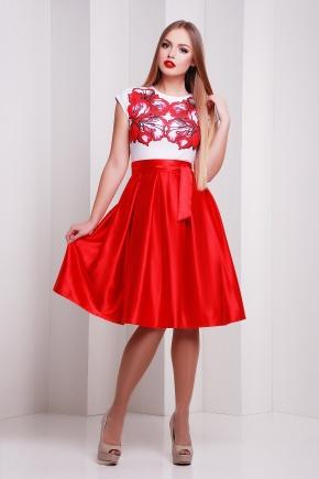 Ирис красный платье Ирика б/р. Цвет: принт