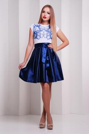 Ирис синий платье Ирика б/р. Цвет: принт