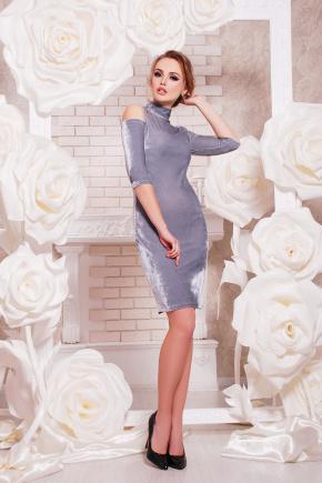 платье Вилия к/р. Цвет: серебряный