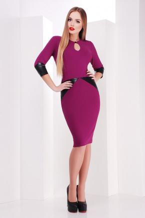 платье Макбет д/р. Цвет: фуксия-черная отделка