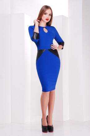 платье Макбет д/р. Цвет: электрик-черная отделка
