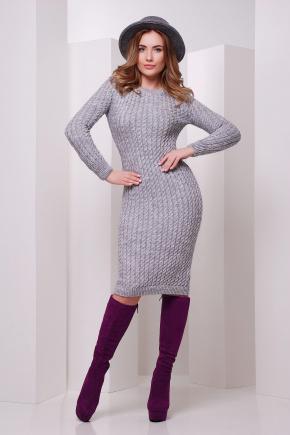 Платье 135. Цвет: темно-серый