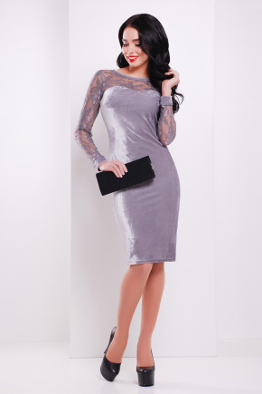 платье Дорра д/р. Цвет: серый