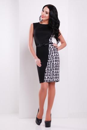 Мозаика платье Кристоль б/р. Цвет: черный