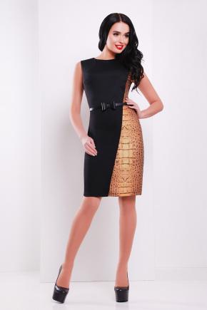 Аллигатор платье Кристоль б/р. Цвет: черный