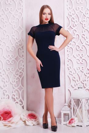 платье Алесандра к/р. Цвет: темно синий