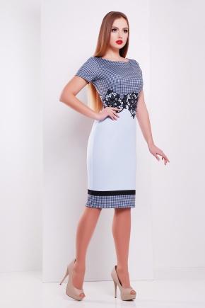 Лорета голубой платье Лоя-1Ф к/р. Цвет: принт