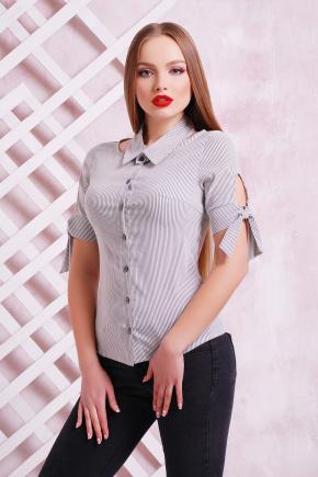 блуза Витория к/р. Цвет: черная полоска