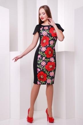 Маки платье Питрэса-Ф к/р. Цвет: черный