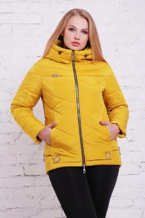 куртка Линда-Б. Цвет: желтый