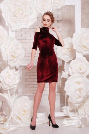 платье Вилия к/р. Цвет: бордовый