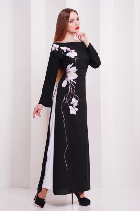 Белая сакура платье Маранелла д/р. Цвет: черный