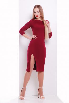 платье Лучера д/р. Цвет: бордовый