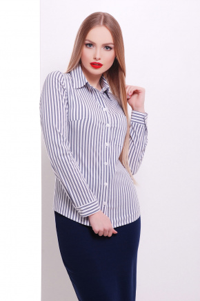 блуза Рубьера д/р. Цвет: белый-черная полоска