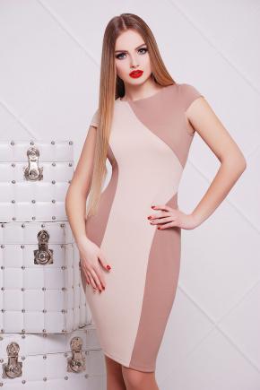 платье Скалея б/р. Цвет: бежевый-молоко