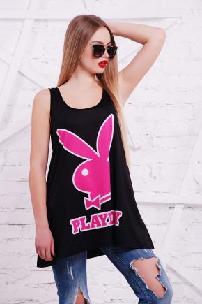 Playboy розовый майка Классик. Цвет: принт