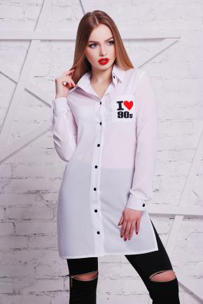 I love 90 рубашка Марена-3 д/р. Цвет: принт