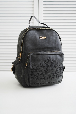 Рюкзак Chloe. Цвет: темно серый