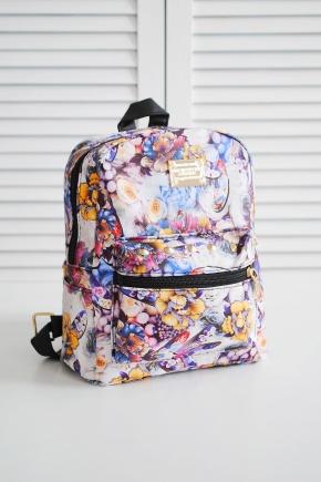 Рюкзак 231. Цвет: цветы-фиолетовый