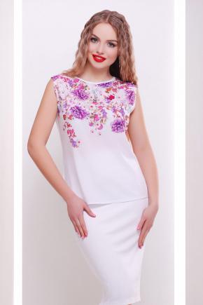 Хризантемы белый футболка Киви б/р. Цвет: принт
