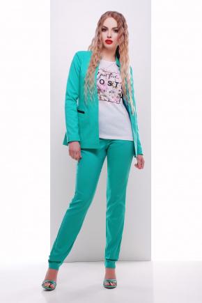 пиджак Синтия2 д/р. Цвет: бирюза-черная отделка