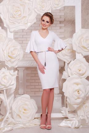 платье Линда к/р. Цвет: белый