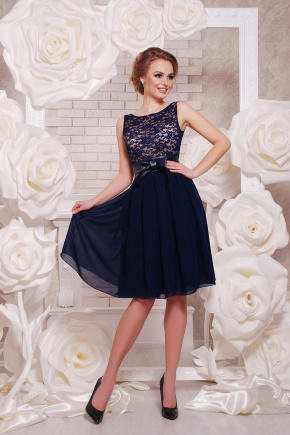 платье Настасья б/р. Цвет: синий