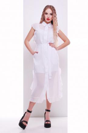 платье-накидка Сан-Вита б/р. Цвет: белый