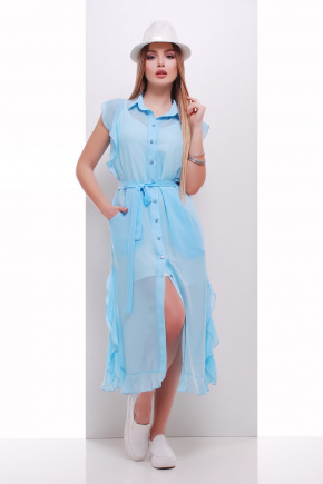 платье-накидка Сан-Вита б/р. Цвет: голубой