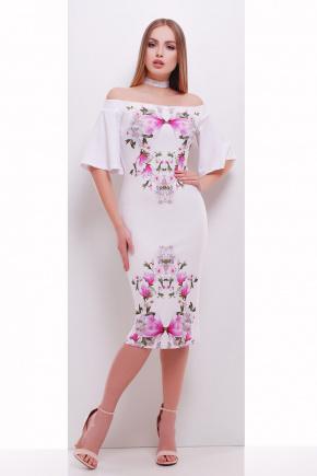 Букет магнолии платье Мальфа-2КД к/р. Цвет: принт