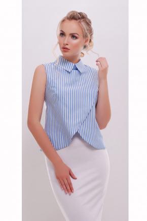 блуза Павлина б/р. Цвет: голубая полоска