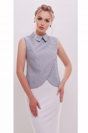 блуза Павлина б/р. Цвет: серая полоска