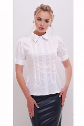 блуза Катрина к/р. Цвет: белый