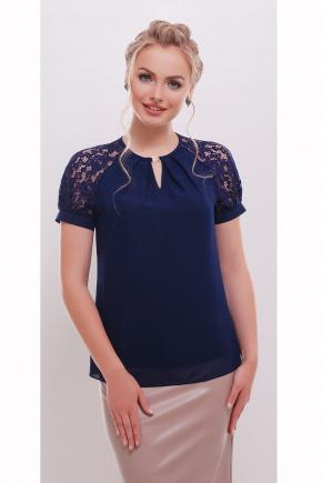 блуза Ильва к/р. Цвет: темно синий