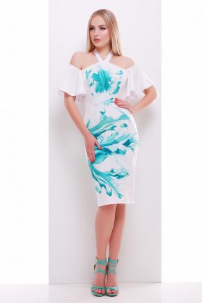 Мята бриз платье Клариса к/р. Цвет: принт