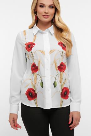 Маки Блуза Лекса-Б КШ д/р. Цвет: белый