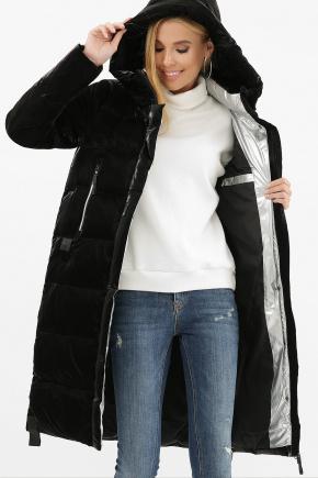 Куртка 2105. Цвет: 01-черный-серебро