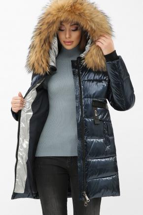 Куртка 8002. Цвет: 02-синий-серебро