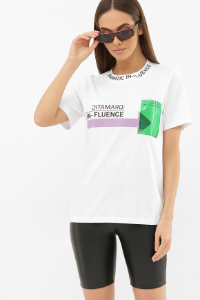 6047 Футболка VR-Y. Цвет: белый