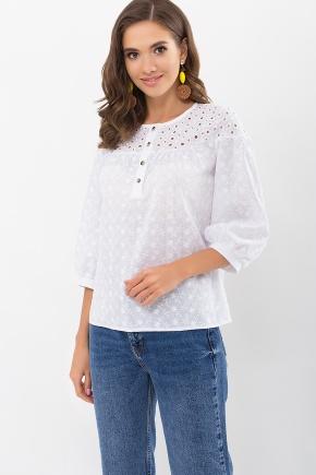 Блуза Элора 3/4. Цвет: белый