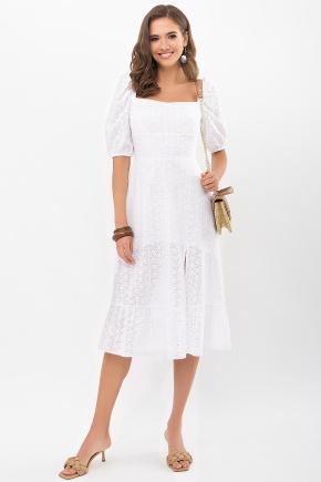 Платье Коста к/р. Цвет: белый