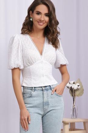 Блуза Инара П к/р. Цвет: белый