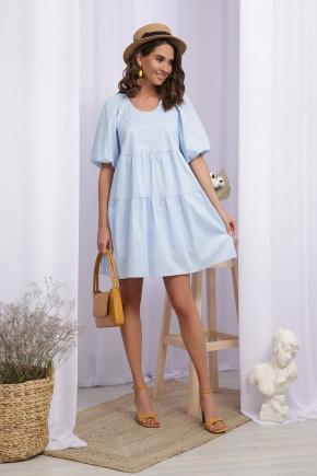 Платье Кати-1 к/р. Цвет: голубой