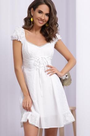 Платье Ожена к/р. Цвет: белый