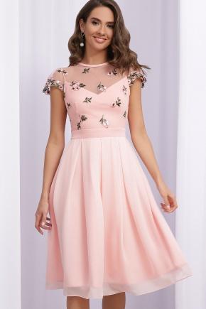 Платье Айседора б/р. Цвет: персик 1