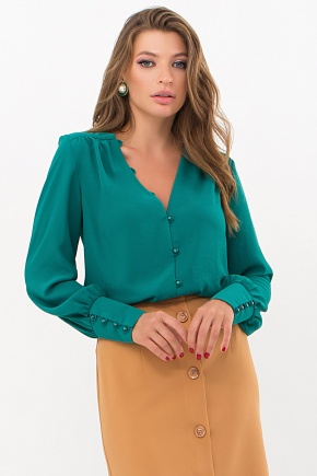 Блуза Ирэн д/р. Цвет: изумруд