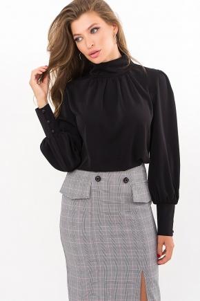 Блуза Селиана д/р. Цвет: черный